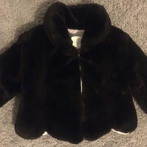Toddler faux fur coat